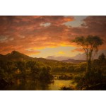 Puzzle  Grafika-00238 Frederic Edwin Church: A Country Home, 1854