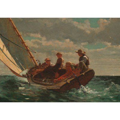 Puzzle  Grafika-00253 Winslow Homer: Breezing Up (A Fair Wind), 1873-1876