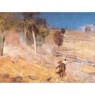 Puzzle  Grafika-00263 Tom Roberts: A Break Away!, 1891