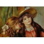 Puzzle  Grafika-00273 Auguste Renoir: Portrait de deux Fillettes, 1880