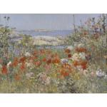 Puzzle  Grafika-00278 Childe Hassam: Celia Thaxter's Garden, Isles of Shoals, Maine, 1890