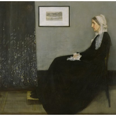 Puzzle  Grafika-00296 James Whistler: Whistler's Mother, 1871 (Arrangement in Grey and Black No.1)