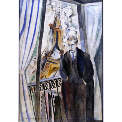 Puzzle  Grafika-00316 Robert Delaunay: Le Poète Philippe Soupault, 1922