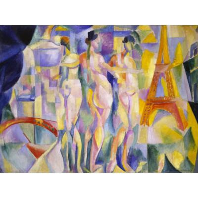 Puzzle  Grafika-00318 Robert Delaunay: La ville de Paris, 1912
