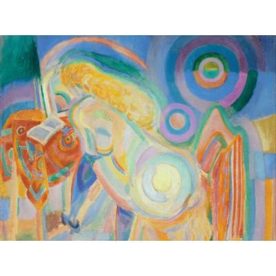 Puzzle  Grafika-00320 Robert Delaunay: Femme Nue Lisant, 1920