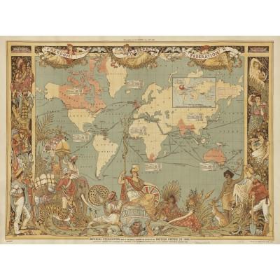 Puzzle  Grafika-00327 Walter Crane: The British Empire, 1886