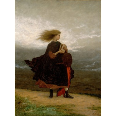 Puzzle  Grafika-00328 Jonathan Eastman Johnson: The Girl I Left Behind Me, 1870-1875