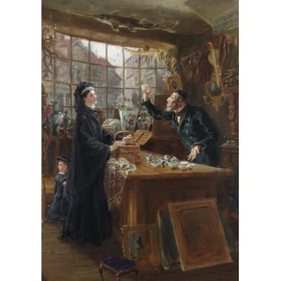Puzzle  Grafika-00333 Ralph Hedley: The Old China Shop, 1877