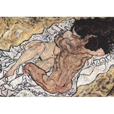 Puzzle  Grafika-00353 Egon Schiele: Die Umarmung (Die Liebenden), 1917