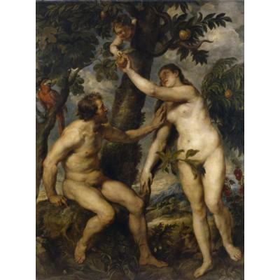 Puzzle  Grafika-00355 Peter Rubens: Adam et Ève, 1628-1629