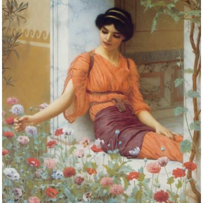 Puzzle Grafika-00367 John William Godward: Summer Flowers, 1903