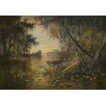 Puzzle  Grafika-00378 Charles Christian Eisele: Evening on the Suwannee River, 1885