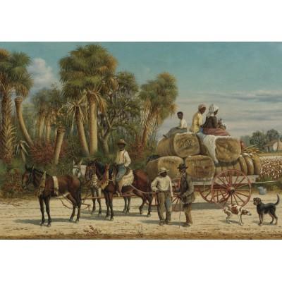 Puzzle  Grafika-00379 William Aiken Walker: Cotton Wagon, 1883