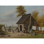 Puzzle  Grafika-00381 William Aiken Walker: Outsite the Cabin