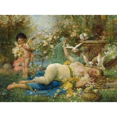 Puzzle  Grafika-00386 Joseph Bernard: Vénus et Cupidon, 1933
