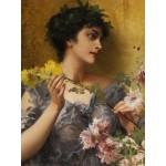 Puzzle  Grafika-00393 Conrad Kiesel: Tribut an die Blumen, 1921