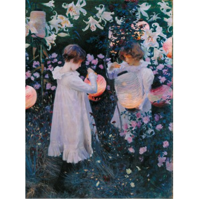 Puzzle  Grafika-00411 John Singer Sargent: Carnation, Lily, Lily, Rose, 1886