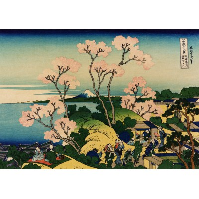 Puzzle  Grafika-00428 Katsushika Hokusai: Shinagawa sur Le Tokaido, 1832