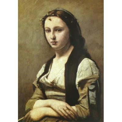 Puzzle  Grafika-00431 Jean-Baptiste Camille Corot: La Femme à la Perle, 1869