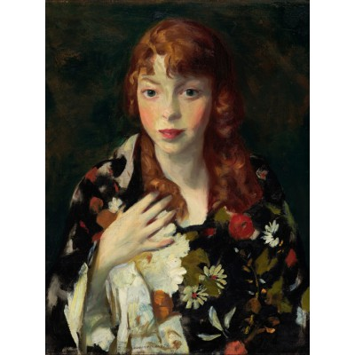 Puzzle  Grafika-00433 Robert Henri: Edna Smith in a Japanese Wrap, 1915