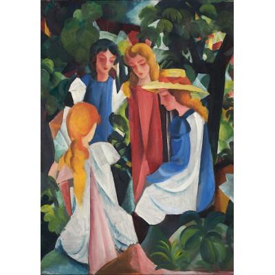 Puzzle Grafika-00438 August Macke: Quatre Filles, 1912-1913
