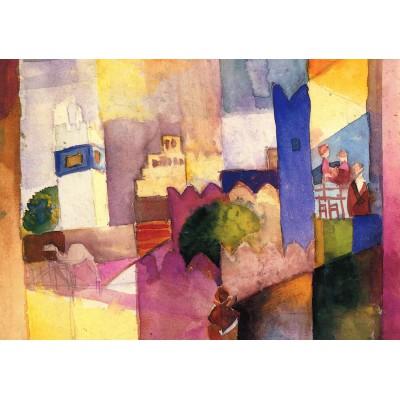 Puzzle Grafika-00440 August Macke: Kairouan (III), 1914