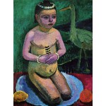 Puzzle  Grafika-00441 Paula Modersohn-Becker: Enfant Nu avec une Cigogne, 1906