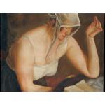 Puzzle  Grafika-00460 Boris Grigoriev: La Liseuse, 1922