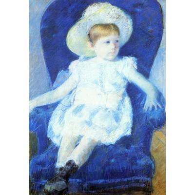 Puzzle  Grafika-00478 Mary Cassatt: Elsie sur un Canapé Bleu, 1880