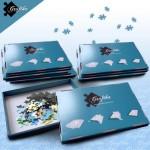 Puzzle  Grafika-00504 Blaue Sortierkästen im 10er-Set