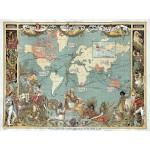 Puzzle  Grafika-00507 Walter Crane: L'Empire Britannique en 1886