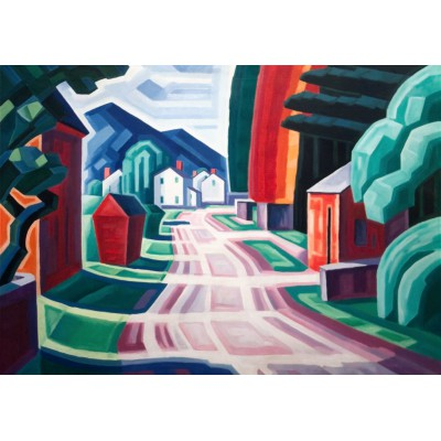 Puzzle  Grafika-00517 Oscar Bluemner: Form and Light, Motif in West New Jersey, 1914