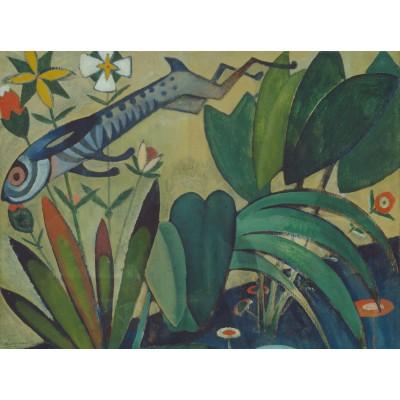 Puzzle  Grafika-00520 Amadeo de Souza-Cardoso: Saut du Lapin, 1911