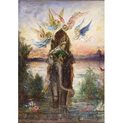 Puzzle  Grafika-00540 Gustave Moreau: L'Eléphant Sacré, 1882
