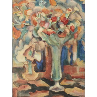 Puzzle  Grafika-00549 Leo Gestel: Still Life with Flowers in a Glass Vase, 1917