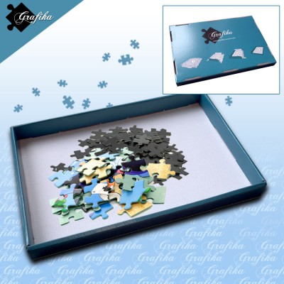 Grafika-00568 Puzzle Sorter Blau