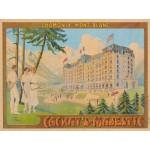 Puzzle  Grafika-00576 Poster Cachat's Majestic - Chamonix, 1910