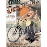 Puzzle  Grafika-00610 Werbeplakat für Fahrräder der Marke Decauville, 1892
