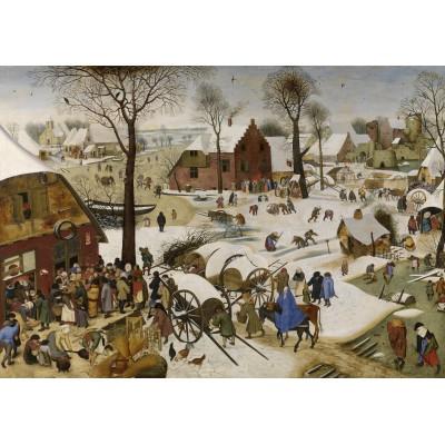 Puzzle  Grafika-00623 Brueghel Pieter: Volkszählung zu Bethlehem