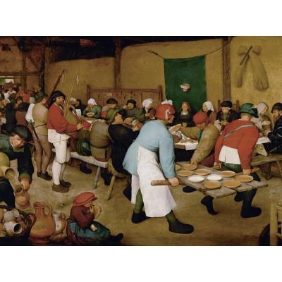 Puzzle  Grafika-00626 Brueghel der Ältere: Bauernhochzeit, 1567-1568