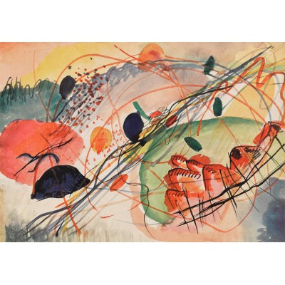 Puzzle Grafika-00630 Wassily Kandinsky: Aquarell 6, Kunstdrucke auf japanpapier