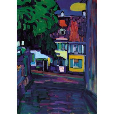 Puzzle Grafika-00637 Wassily Kandinsky: Murnau, Houses in the Obermarkt, 1908