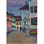 Puzzle  Grafika-00638 Wassily Kandinsky: Murnau, Top of the Johannisstrasse, 1908