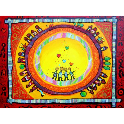 Puzzle  Grafika-00658 Anne Poiré & Patrick Guallino: Portrait de Famille