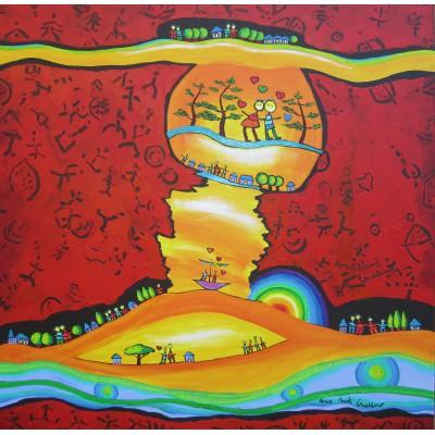 Puzzle  Grafika-00661 Anne Poiré & Patrick Guallino: Epanouissement coloré