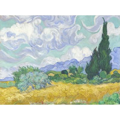 Puzzle  Grafika-00686 Van Gogh Vincent: Champ de Blé avec Cyprès, 1899