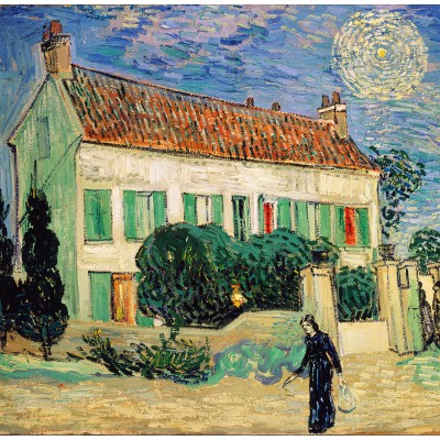 Puzzle  Grafika-00688 Van Gogh Vincent: La Maison Blanche, la Nuit, 1890