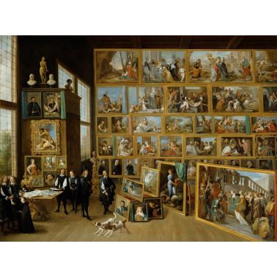 Puzzle  Grafika-00711 David Teniers: Erzherzog Leopold Wilhelm in seiner Galerie in Brüssel