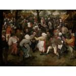 Puzzle  Grafika-00714 Brueghel Pieter: Der Tanz der Bauern im Freien, 1566