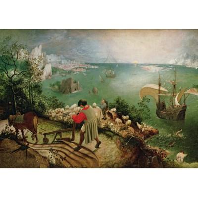 Puzzle  Grafika-00717 Brueghel Pieter: Landschaft mit dem Sturz des Ikarus, 1558